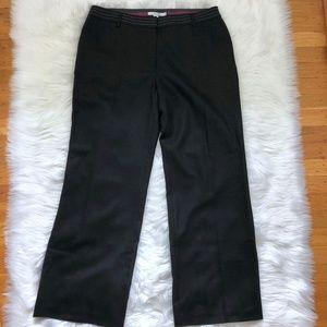 BODEN Black Wool Pants Slacks Lined Wide Leg 12